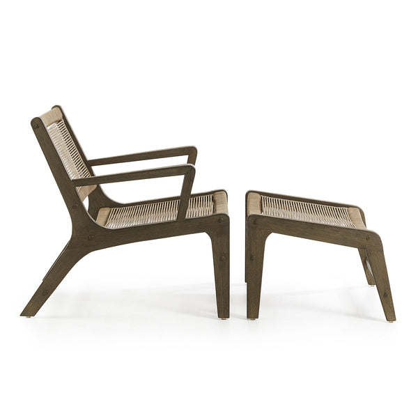 La Forma Basso Armchair with Footrest