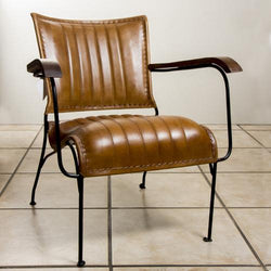 Leather/iron chair