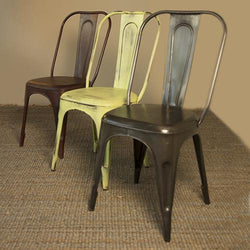 Iron chair in various colours