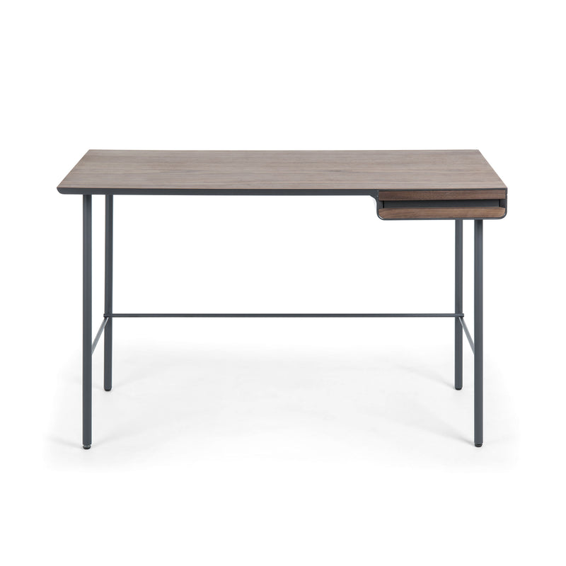 La Forma Mahon Console Desk in Walnut Veneer