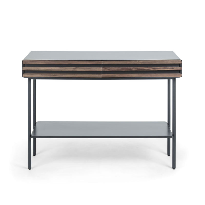 La Forma Mahon Console Table in Walnut Veneer