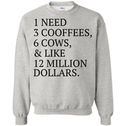 1 need 3 coffees 6 cows and like 12 million