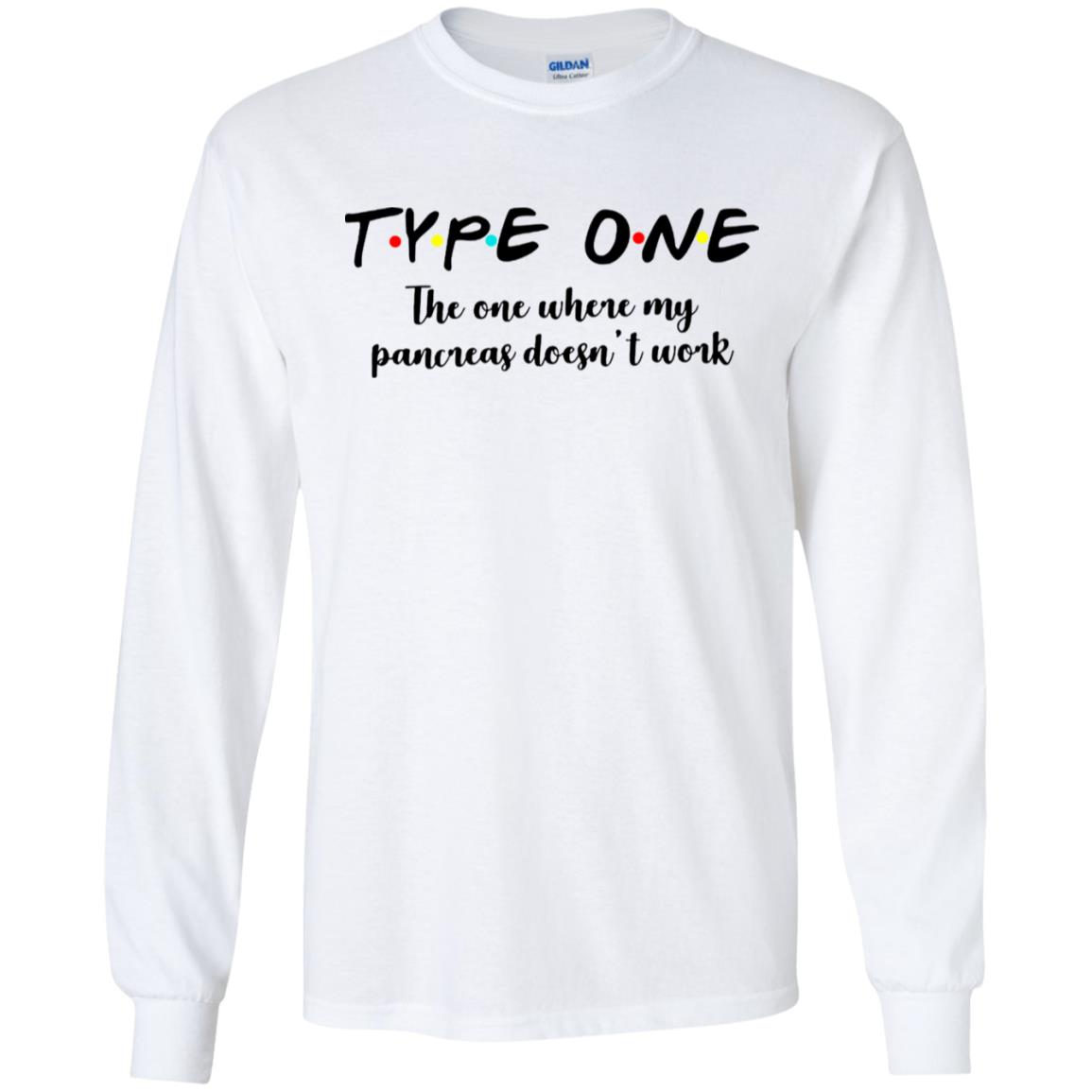 Type one the one where my pancreas doesn't work