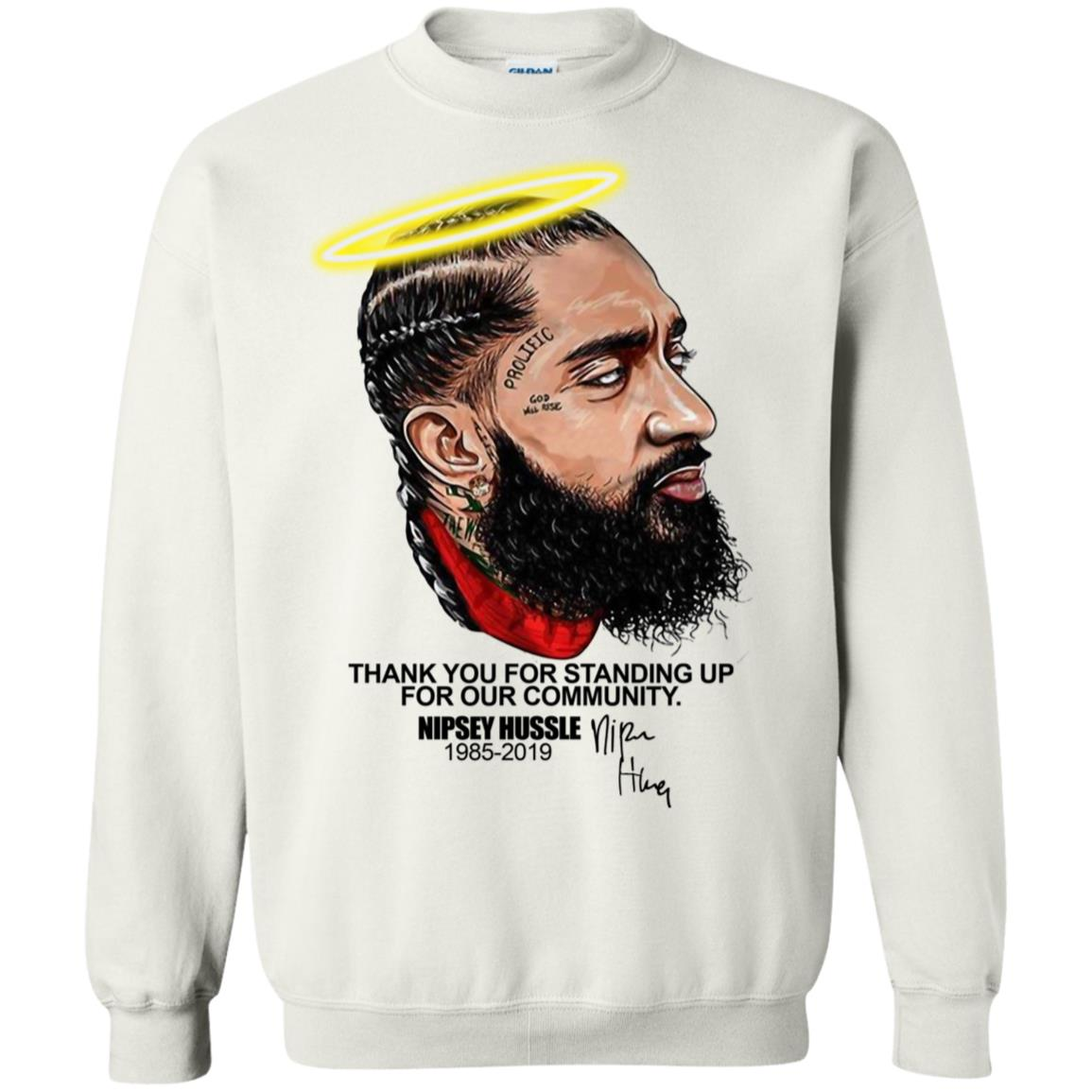 Thank you for standing up for our community Nipsey Hussle