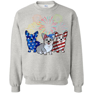 4th Of July Three Corgi American Flag shirt
