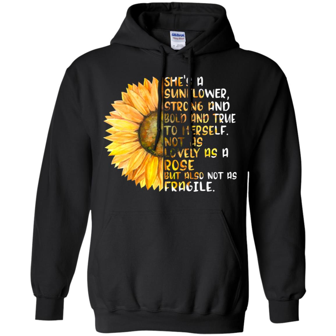 She's a sunflower strong and bold and true to herself not
