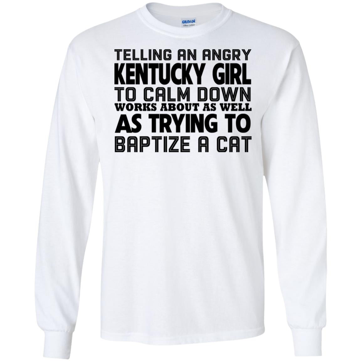 Telling an angry Kentucky girl to calm down