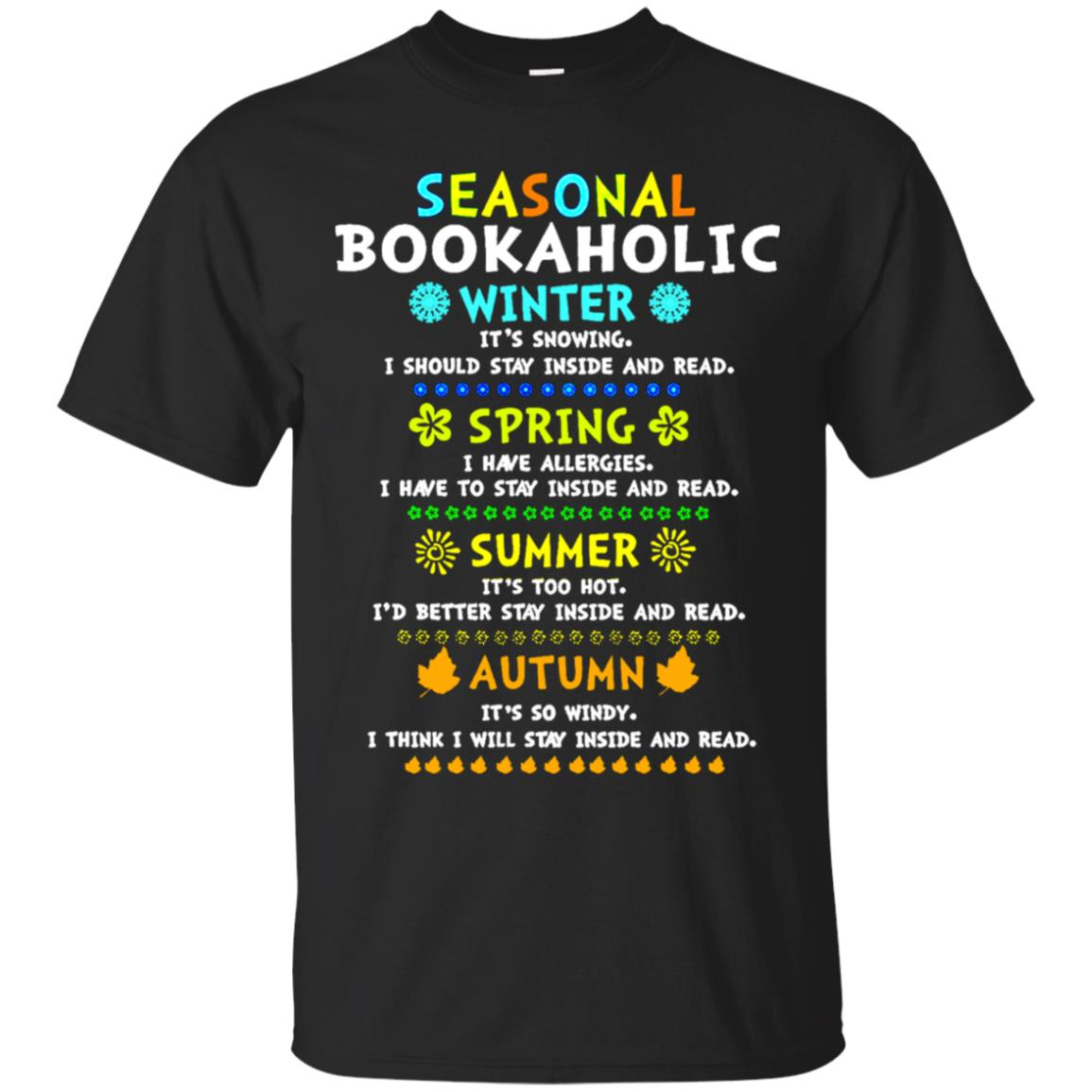 Seasonal bookaholic winter spring summer Autumn