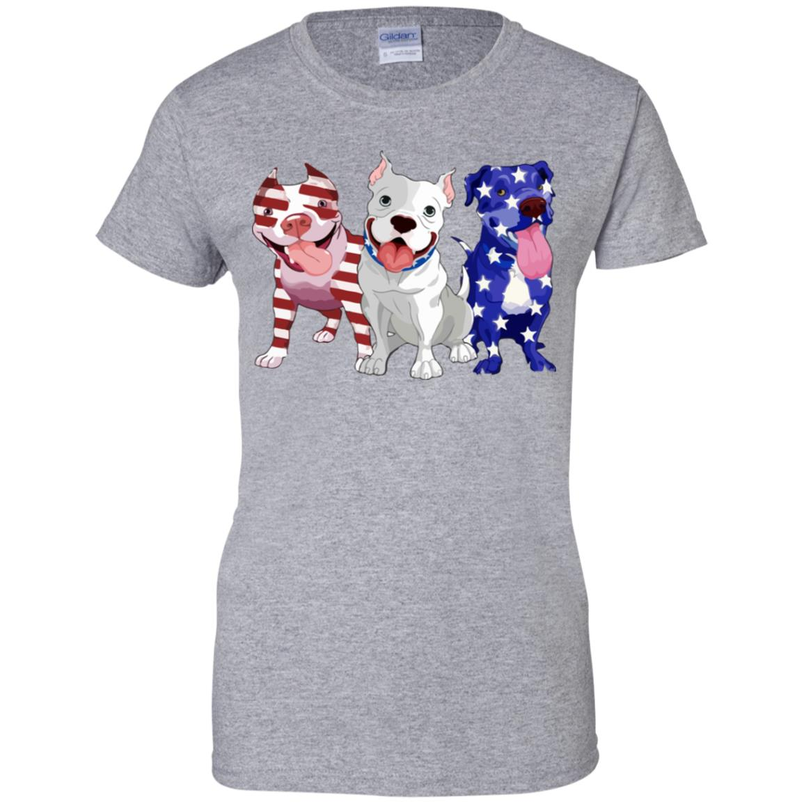 Three Pitbull American flag