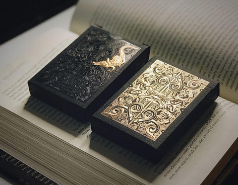 Rose Gold Gatorbacks Playing Cards by David Blaine - Luxury Playing Cards at The Card Inn