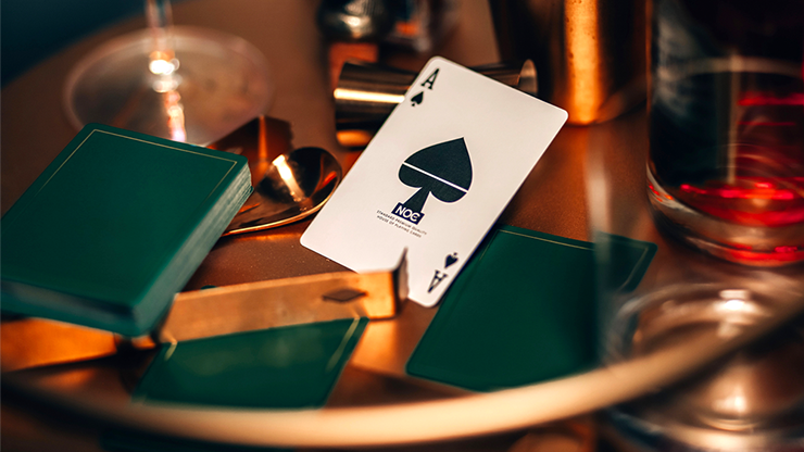 NOC Out Playing Cards (Green / Gold) - Minimal Decks at The Card Inn