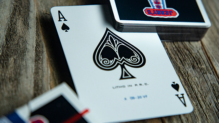 Gilded Jerry's Nuggets Playing Cards Black Edition - The Card Inn