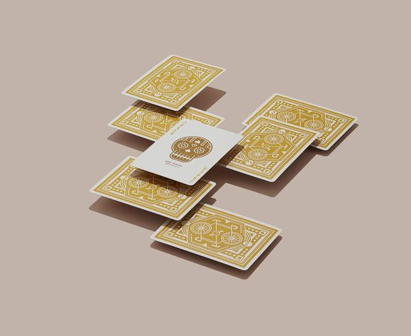 DKNG Wheels Playing Cards - Yellow (Limited Edition) - The Card Inn