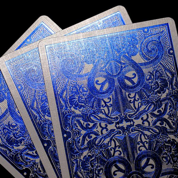 Blue Metallic Gatorbacks Playing Cards - David Blaine Decks UK