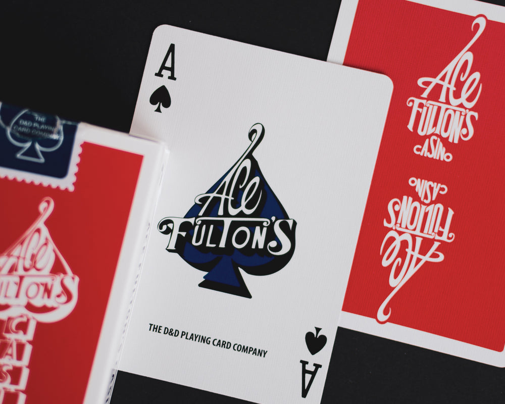 Ace Fulton Casino Classic Edition Playing Cards (Red) - The Card Inn