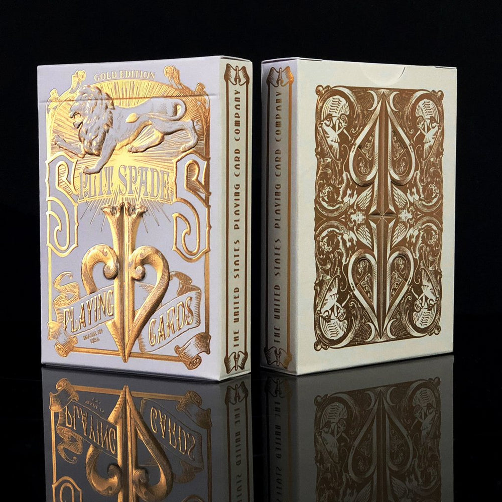 Gold Split Spades Playing Cards - David Blaine Decks at The Card Inn UK