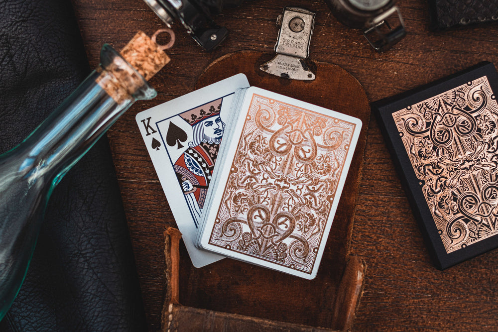 David Blaine Rose Gold Gatorbacks - Luxury Playing Cards at The Card Inn