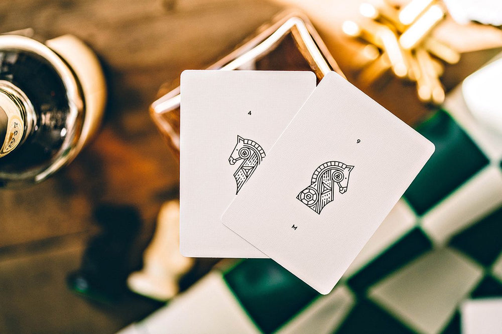White Knights Playing Cards by Chris Ramsay / Daniel Madison - The Card Inn