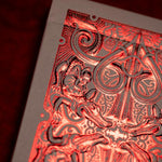Red Metallic Gatorbacks Playing Cards by David Blaine - The Card Inn