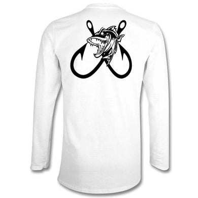 2 Hooked Fishing Long Sleeve Tshirt