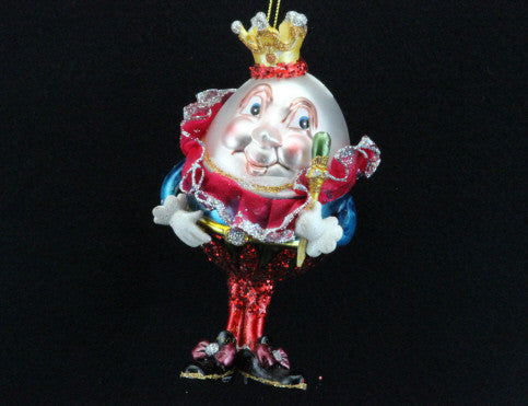 Painted Glass Humpty Dumpty Tree Decoration