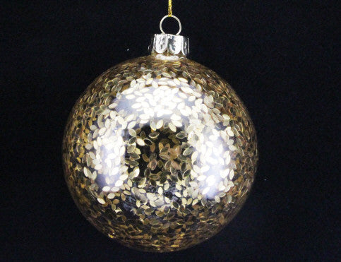 Gold Confetti Glass Bauble