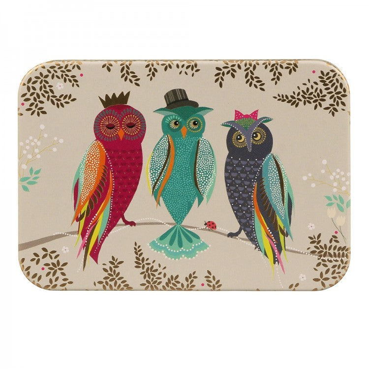 Sara Miller Owls Pocket Tin