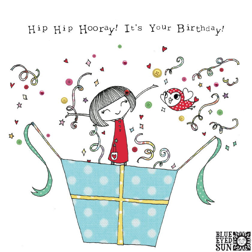 Doodle Girl Card - It's Your Birthday
