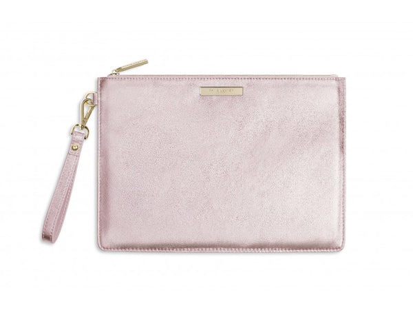 Katie Loxton Luxe Clutch Bag - Metallic Rose Gold