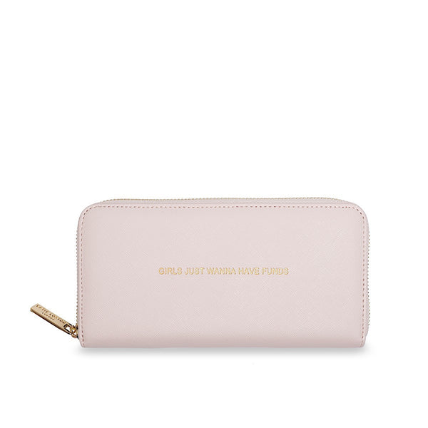 Katie Loxton Large Purse - Girls Just Wanna Have Funds (Pink)