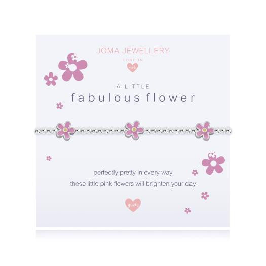 Joma Jewellery Girls A Little Fabulous Flower Bracelet