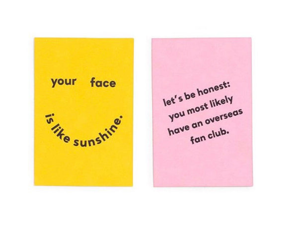 Ban.do Compliment Card Set - Your Face Is Like Sunshine