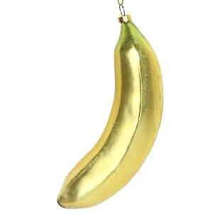 Glass Banana Decoration