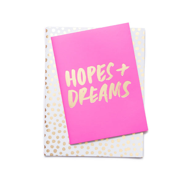 Ban.do Good Ideas Notebook Set - Petite Party Dots / Hopes & Dreams