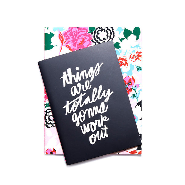 Ban.do Good Ideas Notebook Set - Florabunda / Things Are Totally Gonna Work Out