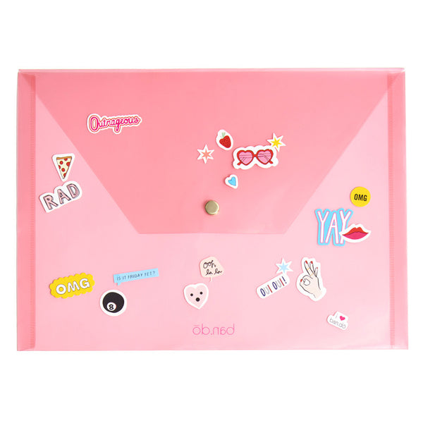 Ban.do Peekaboo Folio & Sticker Set