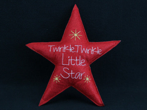 Fabric Clip On Twinkle Twinkle Little Star Tree Topper