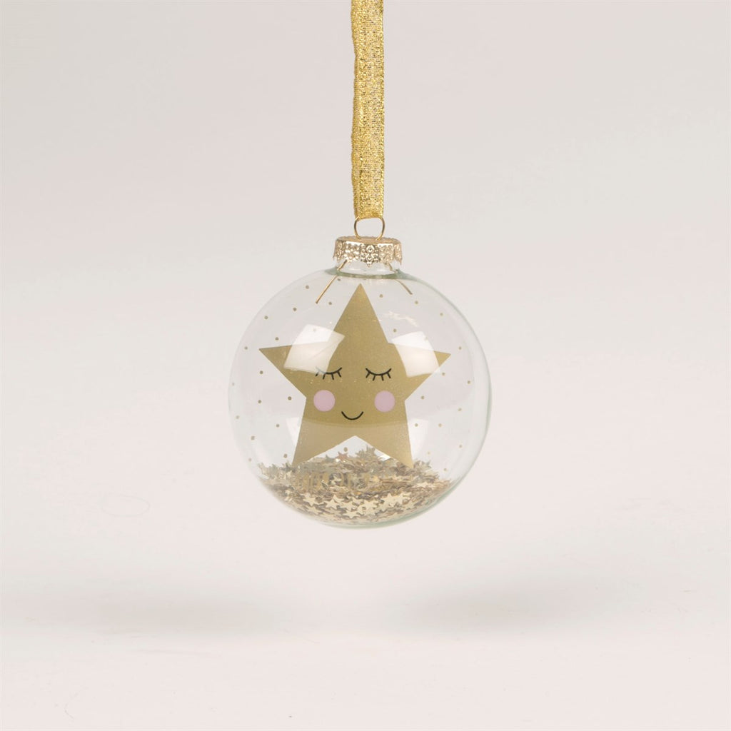 Sass & Belle Sweet Dreams Gold Star Bauble