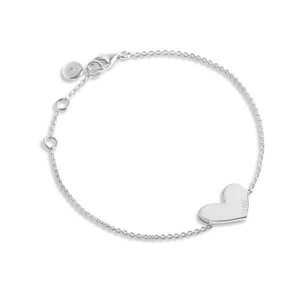 Forever Joma The Line Collection Silver Heart Bracelet