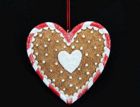 Gingerbread & Candycane Heart Tree Decoration