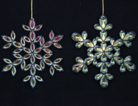 Peacock Snowflake Tree Decoration