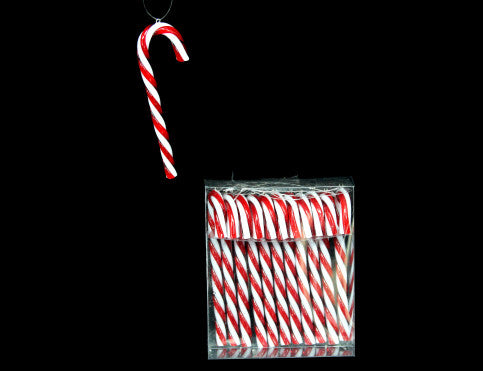Set of 12 Mini Candy Cane Christmas Tree Decorations
