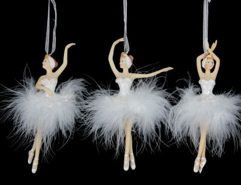 Feather Ballerina Christmas Tree Decoration