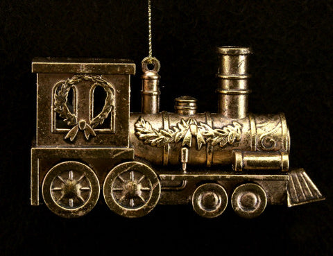 Antique Gold Train Christmas Tree Decoration