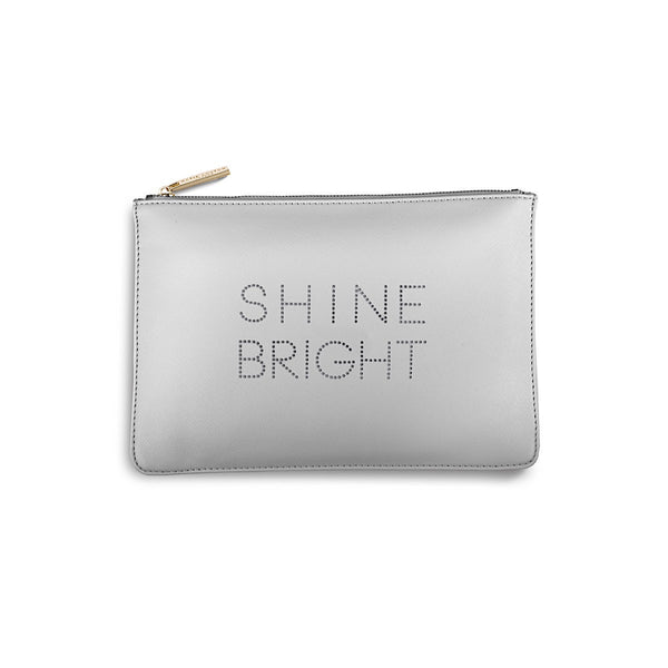 Katie Loxton Polka Dot Pouch - Shine Bright (Pale Grey)