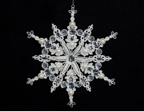 Large Silver Snowflake Christmas Decoration