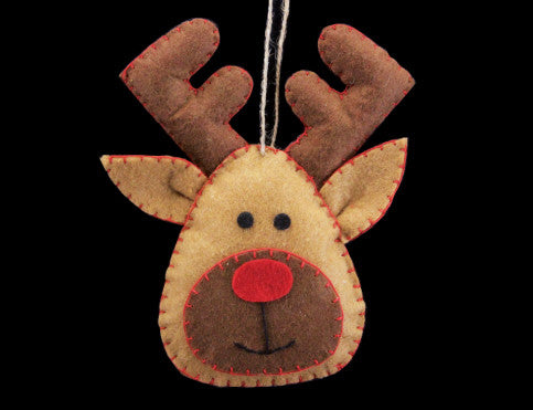 Felt Reindeer Christmas Tree Decoration