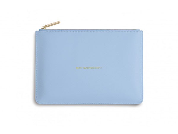 Katie Loxton Perfect Pouch - Best Teacher Ever! (Pale Blue)