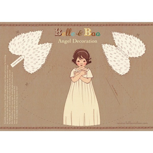 Belle & Boo Paper Angel Christmas Decoration