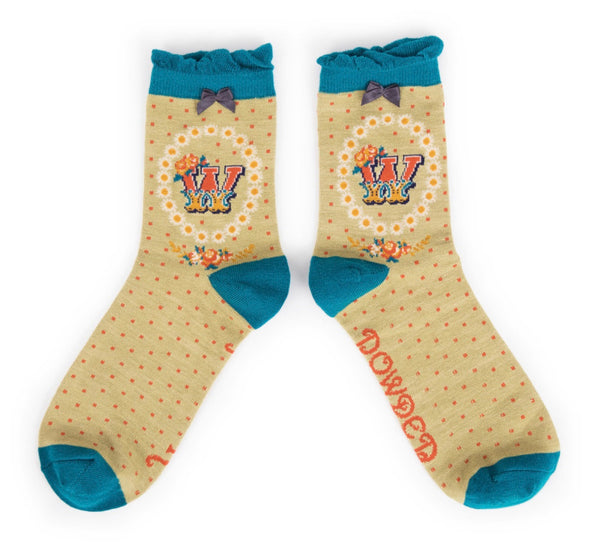 Powder A-Z Socks - W